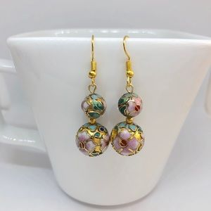 Chinese Cloisonné Earrings